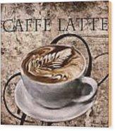 Oh My Latte Wood Print