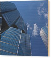 Oh So Blue - Downtown Toronto Skyscrapers Wood Print