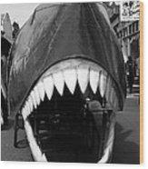 Oh The Shark Bites Wood Print