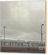 Ohare Airport Peoplemover Wood Print