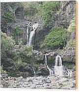 O'heo Falls Wood Print