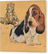 Ohhh Eee Teddy Bear Wood Print