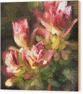Ohia Leaves Wood Print
