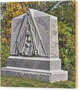 Ohio At Gettysburg - 29th Ohio Volunteer Infantry Autumn Mid-afternoon Culp's Hill Wood Print