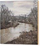 Ohio Brush Creek Wood Print