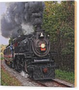Ohio Central #1293 Steam Wood Print