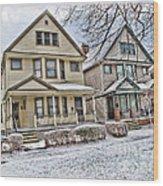 Ohio City Cleveland Wood Print