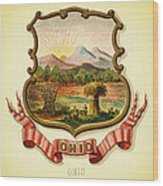 Ohio Coat Of Arms - 1876 Wood Print