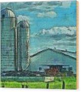 Ohio Farm Wood Print