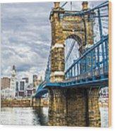 Ohio River Bridge Wood Print