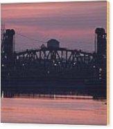 Ohio River Railroad Bridge Wood Print
