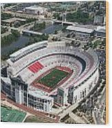 Ohio Stadium Aerial Wood Print