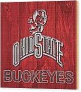 Ohio State Buckeyes Barn Door Wood Print