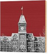 Ohio State University - Dark Red Wood Print
