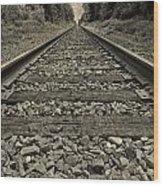 Ohio Train Tracks Wood Print