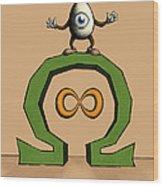 ohmEGGa - All Seeing Ei Wood Print