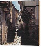 Ohrid Streets Wood Print
