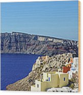 Oia Panoramic, Santorini, Greece Wood Print
