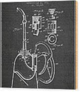 Oil Can Patent From 1903 - Dark Wood Print