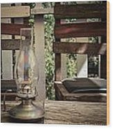 Oil Lamp 2 Wood Print