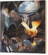 Oil Lamp Wood Print