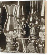 Oil Lamps Wood Print