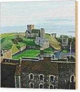 Oil Painting - Aerial View Of Dover Castle Wood Print