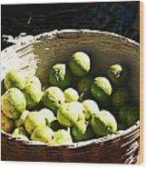 Oil Painting - Based Full Of Guavas Wood Print