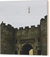Oil Painting - British Flag Over A Doorway Inside The Stirling Castle Wood Print