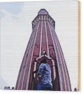 Oil Painting - Minaret Inside Jama Masjid Wood Print