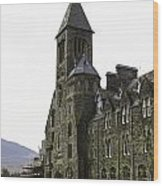 Oil Painting - Repair Of The Benedictine Abbey At Fort Augustus Now Apartments Wood Print
