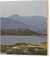 Oil Painting - Rugged Shoreline And Waters Of A Loch In The Scottish Highlands Wood Print