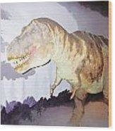 Oil Painting - Thankfully This T Rex Is A Dummy Wood Print