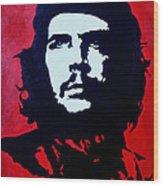 Original Oil Painting Art -ernesto Guevara#16-2-5-30 Wood Print