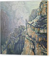 Oil Painting - Majestic Canyon Wood Print