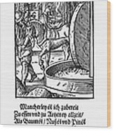 Oil Press, 1568 Wood Print