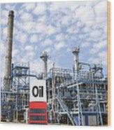Oil Refinery And Industries Wood Print