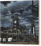 Oil Refinery Sinclair Wyoming Wood Print
