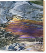 Oil Slick Abstract Wood Print
