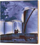 Oil Storage Tanks 2 Wood Print