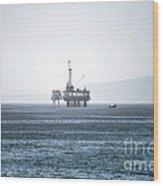 Oil Tower Wood Print