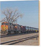 Bnsf Oil Train In Dilworth Minnesota Wood Print