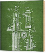 Oil Well Pump Patent From 1912 - Green Wood Print