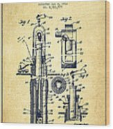 Oil Well Pump Patent From 1912 - Vintage Wood Print