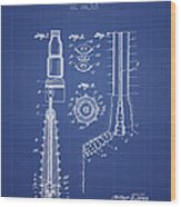 Oil Well Reamer Patent From 1924 - Blueprint Wood Print