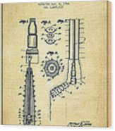 Oil Well Reamer Patent From 1924 - Vintage Wood Print
