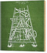 Oil Well Rig Patent From 1893 - Green Wood Print