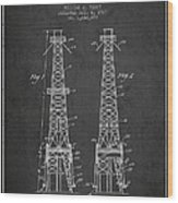 Oil Well Rig Patent From 1927 - Dark Wood Print