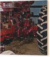 Oiled Tractor Wood Print