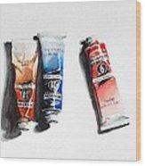 Oils In Watercolors Wood Print